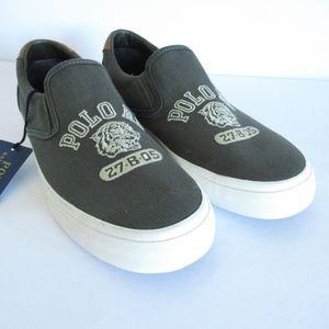 Polo Ralph Lauren Sneakers Slip On Tiger Logo New